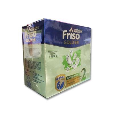 代购港版 荷兰美素佳儿金装纸盒2阶段(6-12月/迈步成长) Friso Gold P2 1200克